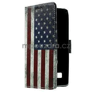 Peňaženkové puzdro na LG Spirit - vlajka US - 4