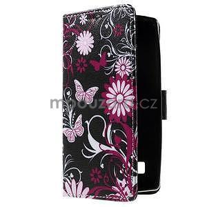 Peňaženkové puzdro na LG Spirit - kúzelný motýlik - 4