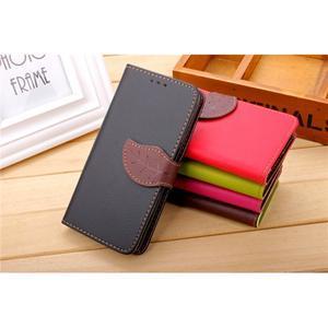 Knížkové PU kožené puzdro pre mobil Meizu MX5 - čierné - 4