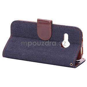 Jeans peňanžekové puzdro pre HTC One Mini 2 - tmavomodre - 4