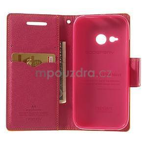 Style peňaženkové puzdro HTC One Mini 2 - žlté - 4