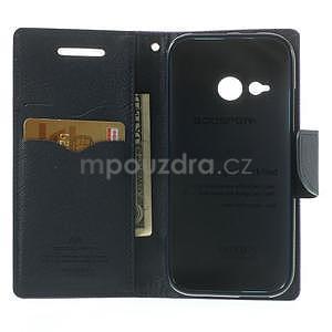 Style peňaženkové puzdro HTC One Mini 2 - fialové - 4