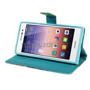 Obrazové peňaženkové puzdro na Huawei Ascend P7 - loďka - 4
