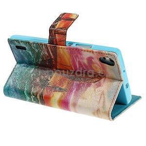Obrazové peňaženkové puzdro na Huawei Ascend P7 - oceán - 4