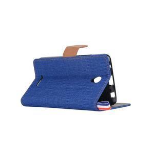 Jeans peňaženkové puzdro na Lenovo A5000 - tmavo modré - 4