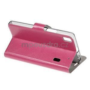 Hardy peňaženkové puzdro na Lenovo A7000 a Lenovo K3 Note - rose - 4