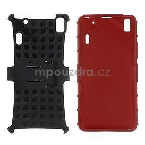 Odolne puzdro na Lenovo K3 Note a Lenovo A7000 - červené - 4