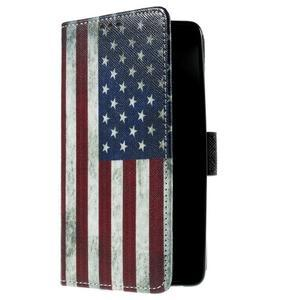 Cross peňaženkové puzdro na Xiaomi Mi4 - US vlajka - 4
