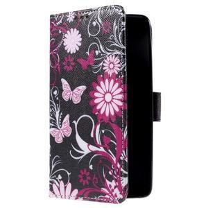 Cross peňaženkové puzdro na Xiaomi Mi4 - kouzelní motýlci - 4