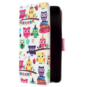 Cross peňaženkové puzdro na Xiaomi Mi4 - sovičky - 4