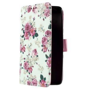 Cross peňaženkové puzdro pre Xiaomi Mi4 - kytičky - 4