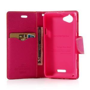 Mr. Fancy peňaženkové puzdro pre Sony Xperia L - žlté - 4