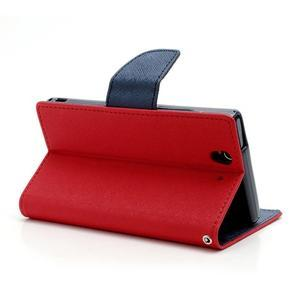 Mr. Goos peňaženkové puzdro na Sony Xperia Z - červené - 4