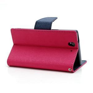 Mr. Goos peňaženkové puzdro na Sony Xperia Z - rose - 4