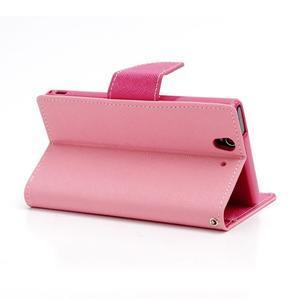 Mr. Goos peňaženkové puzdro na Sony Xperia Z - růžové - 4