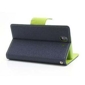 Mr. Goos peňaženkové puzdro na Sony Xperia Z - tmavo modré - 4