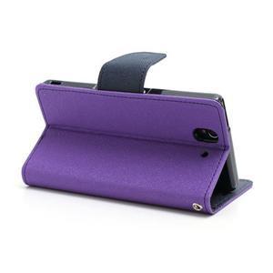 Mr. Goos peňaženkové puzdro pre Sony Xperia Z - fialové - 4