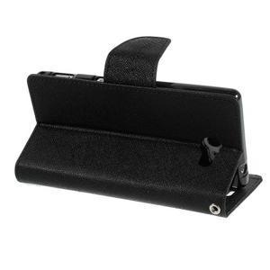 Mr. Goos peňaženkové puzdro pre Sony Xperia M2 - čierné - 4