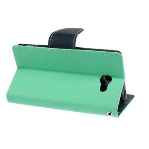 Mr. Goos peňaženkové puzdro pre Sony Xperia M2 - azurové - 4