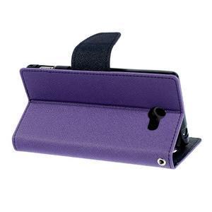 Mr. Goos peňaženkové puzdro na Sony Xperia M2 - fialové - 4