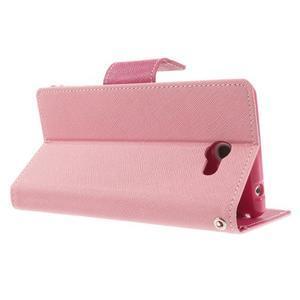 Mr. Goos peňaženkové puzdro na Sony Xperia M2 - růžové - 4