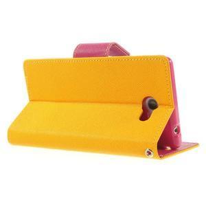 Mr. Goos peňaženkové puzdro pre Sony Xperia M2 - žlté - 4