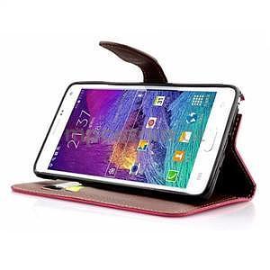 Peňaženkové puzdro s pútkom na Samsung Galaxy Note 4 - rose - 4