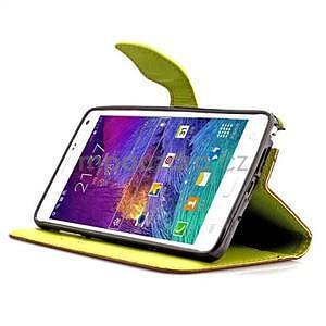 Peňaženkové puzdro s pútkom na Samsung Galaxy Note 4 - hnedé - 4