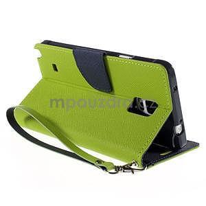Štýlové peňaženkové puzdro pre Samsnug Galaxy Note 4 -  zelené - 4