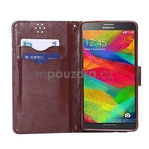 Elegantné peňaženkové puzdro pre Samsung Galaxy Note 4 - čierne - 4