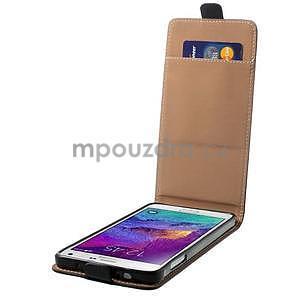 Flipové puzdro pre Samsugn Galaxy Note 4 - čierne - 4