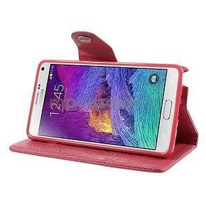 Zapínací peneženkové poudzro Samsung Galaxy Note 4 -rose - 4