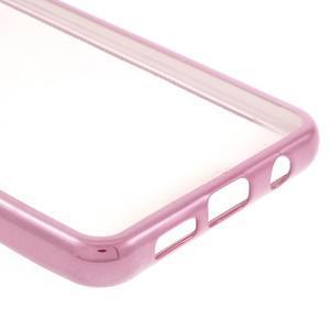 Rich gelový obal s růžovým obvodem na Samsung Galaxy A3 (2016) - 4