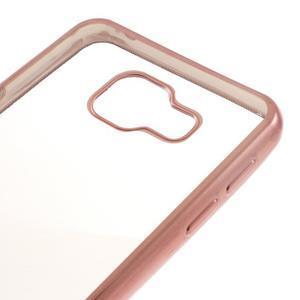 Rich gelový obal s růžovozlatým obvodem na Samsung Galaxy A3 (2016) - 4