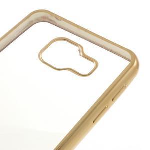 Rich gelový obal se zlatým obvodem na Samsung Galaxy A3 (2016) - 4
