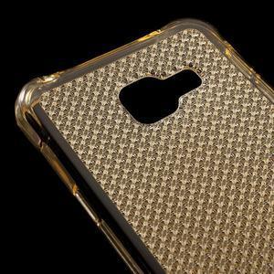 Diamonds gélový obal pre Samsung Galaxy A3 (2016) - zlatý - 4