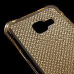 Diamonds gelový obal na Samsung Galaxy A3 (2016) - zlatý - 4/5