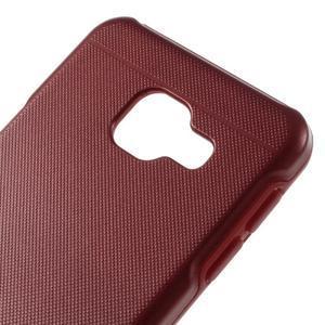 Odolný ochranný obal 2v1 pre mobil Samsung Galaxy A3 (2016) - červený - 4