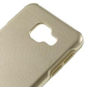 Odolný ochranný obal 2v1 pre mobil Samsung Galaxy A3 (2016) - zlatý - 4