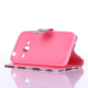 Standy peňaženkové puzdro pre Samsung Galaxy Core Prime - soví rodinka - 4