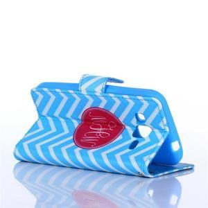 Standy peňaženkové puzdro pre Samsung Galaxy Core Prime - modrý vzor - 4