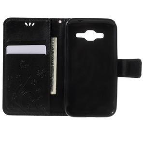 Butterfly PU kožené puzdro pre Samsung Galaxy Core Prime - čierne - 4