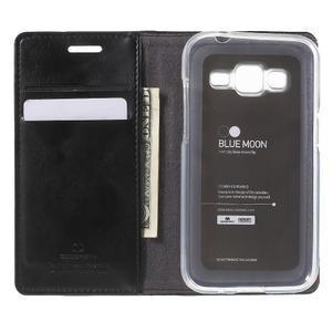 Moon PU kožené puzdro pre mobil Samsung Galaxy Core Prime - čierne - 4