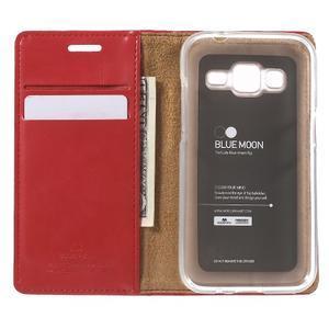 Moon PU kožené pouzdro na mobil Samsung Galaxy Core Prime - červené - 4