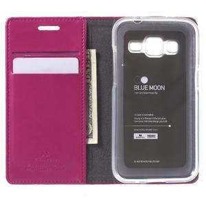 Moon PU kožené pouzdro na mobil Samsung Galaxy Core Prime - rose - 4