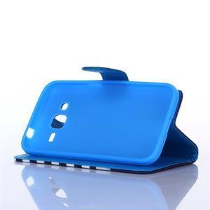 Standy peněženkové pouzdro na Samsung Galaxy Core Prime - mašlička - 4