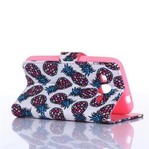 Standy peňaženkové puzdro pre Samsung Galaxy Core Prime - ananasy - 4