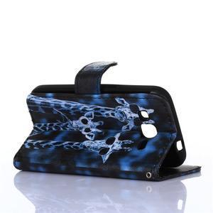 Standy peňaženkové puzdro pre Samsung Galaxy Core Prime - žirafí mafie - 4