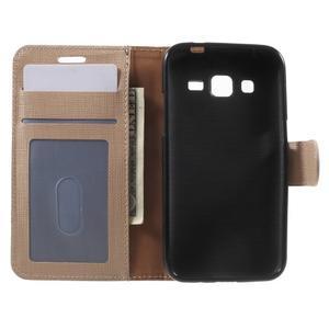Clothy peňaženkové puzdro pre Samsung Galaxy Core Prime - champagne - 4