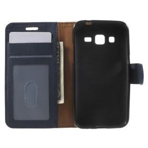 Clothy peněženkové pouzdro na Samsung Galaxy Core Prime - tmavěmodré - 4